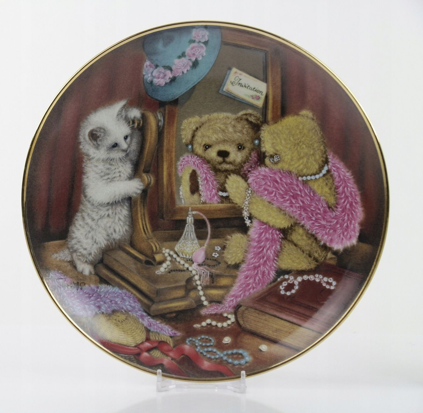Pchli Targ Talerz Misie Franklin 7975611620 Allegro Pl Vintage Teddy Bears Teddy Bear Vintage Wall Decor