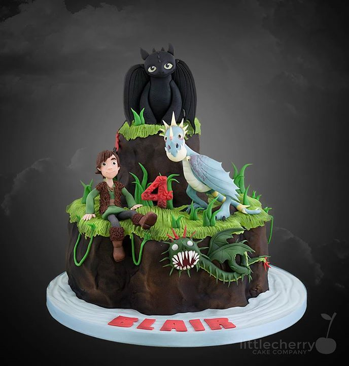 Awe Inspiring How To Train Your Dragon Cake For All Your Cake Decorating Personalised Birthday Cards Veneteletsinfo