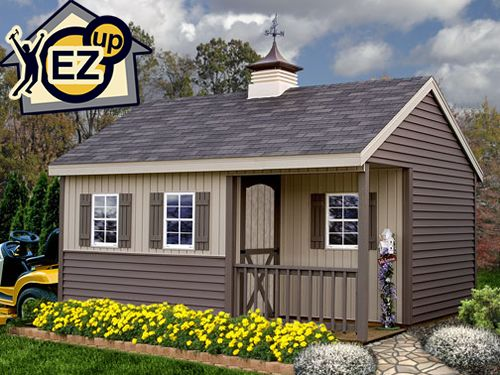 Ezup Sheds Stanford 12 X 16 Vinyl Prep Wood Storage Shed Kit Garden Storage Shed Vinyl Sheds Storage Shed Kits