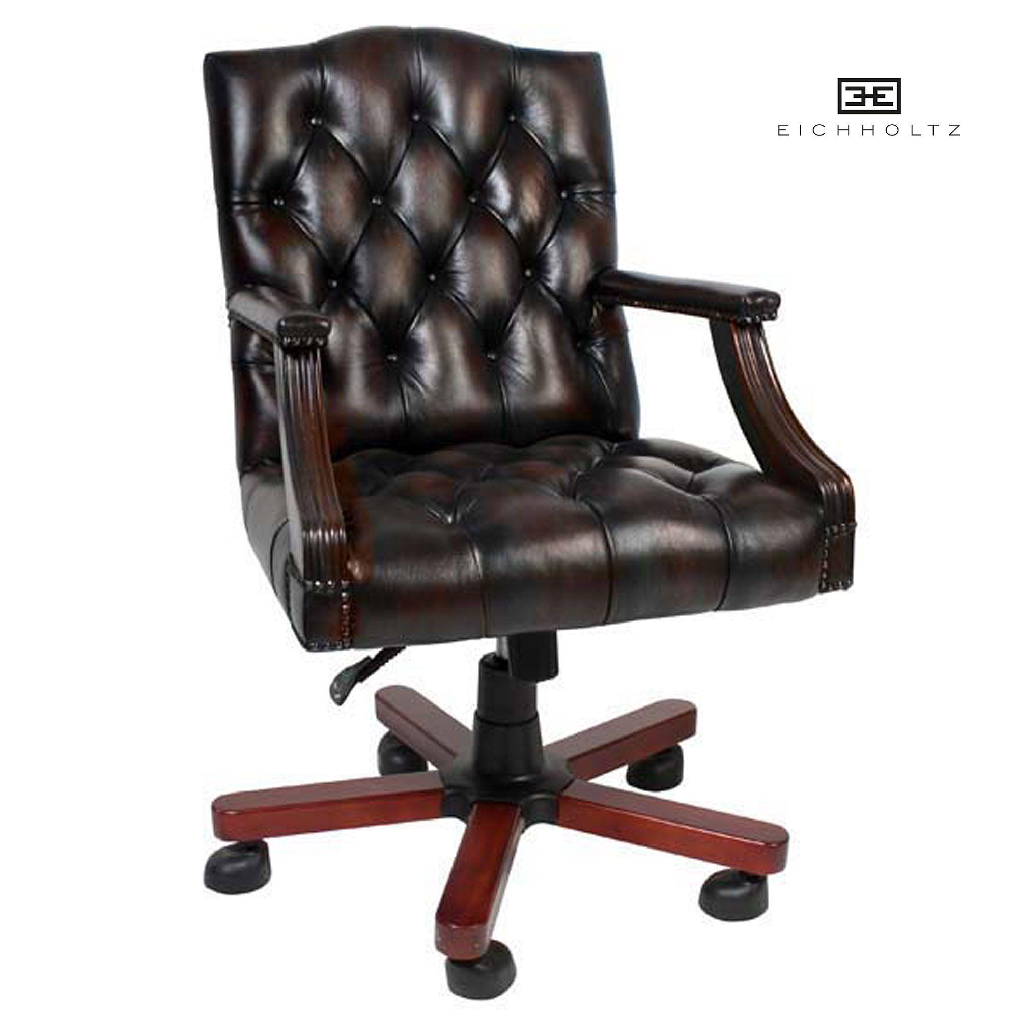Gecapitonneerde Stoelen Leer.Eichholtz Desk Chair Gainsborough Bureaustoel