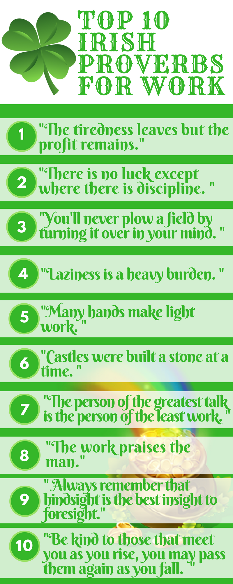 Top 10 irish work proverbs infographic lifes mottos pinterest top 10 irish work proverbs infographic kristyandbryce Choice Image