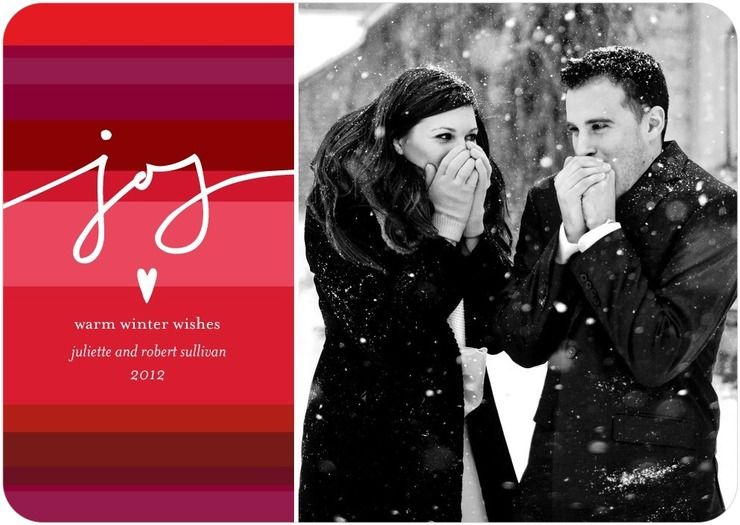 Holiday cards for engaged couples wedding paper divas