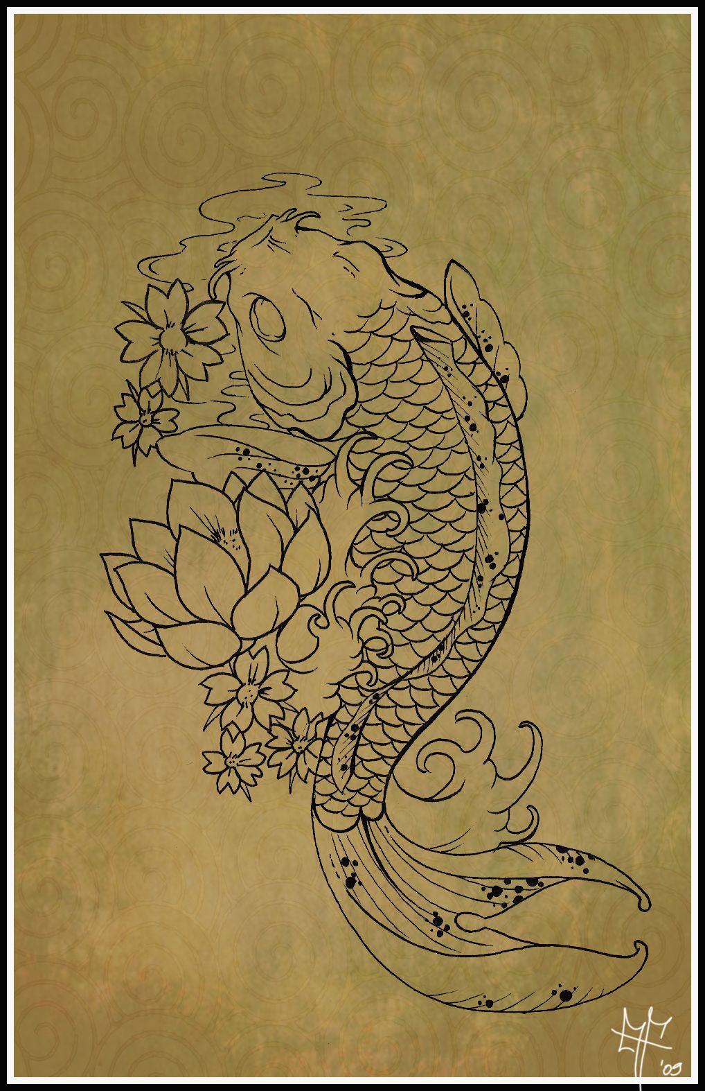 die besten 25 koi tattoo design ideen auf pinterest japanisches koi fisch t towierung koi. Black Bedroom Furniture Sets. Home Design Ideas
