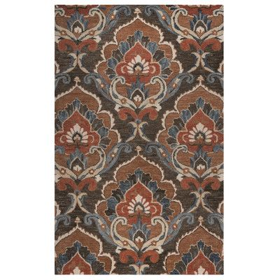 World Menagerie Acker Hand-Tufted Brown Area Rug Size: