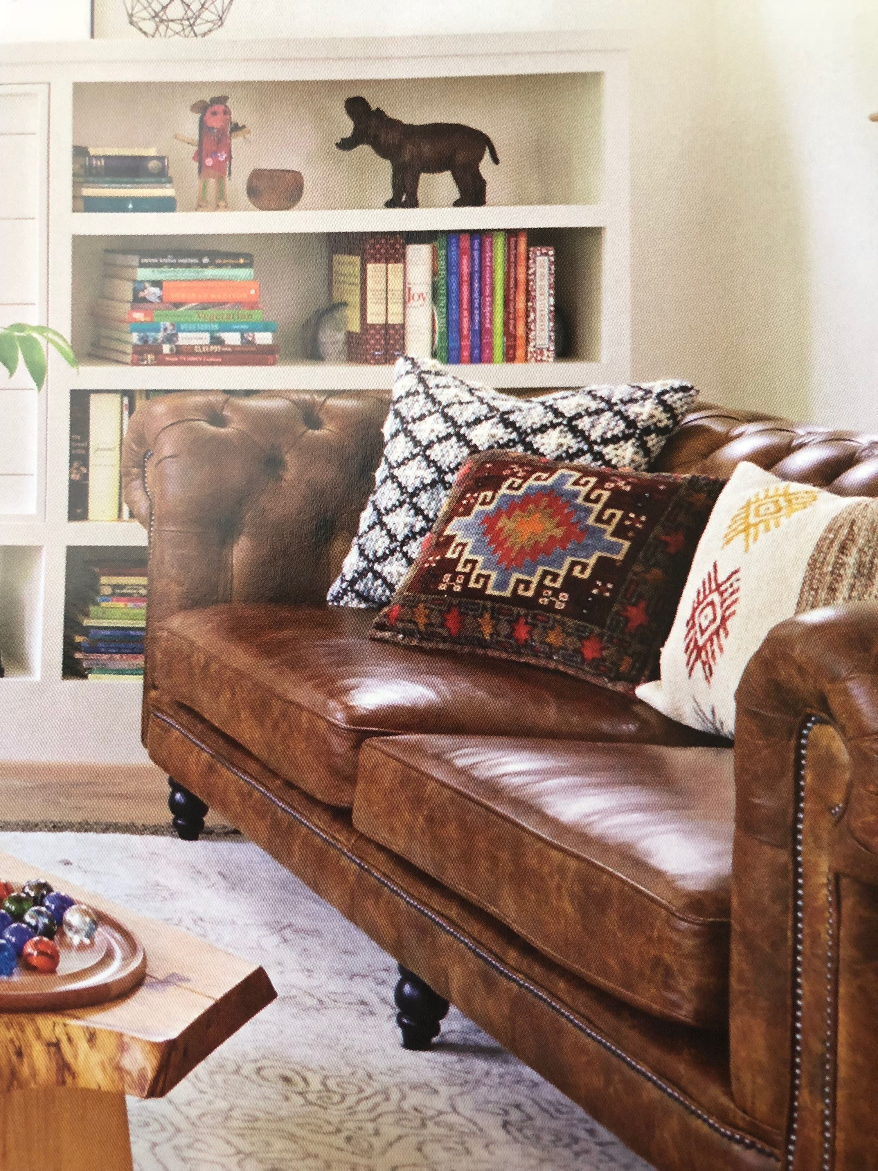 Inspiration For Reading Nook By Fireplace Pillows, Leather Chair And