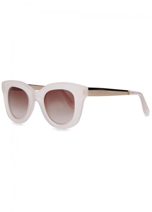 b6c02f4d38 CUTLER AND GROSS CUTLER AND GROSS 1181 WHITE CAT-EYE SUNGLASSES.   cutlerandgross