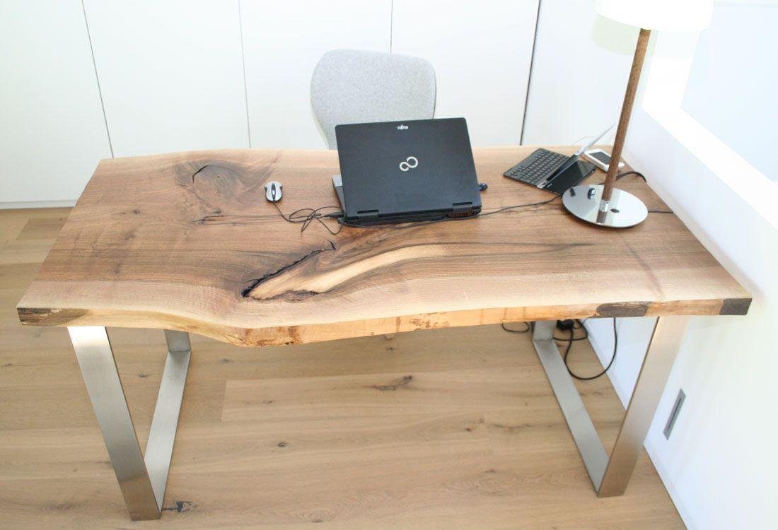 Tische nussbaum esszimmer - Rustikaler schreibtisch ...