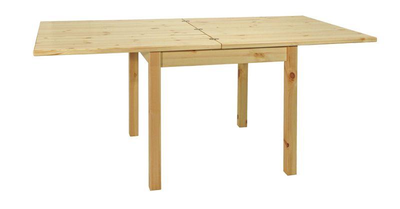 Tavolo allungabile a libro rustico in legno massello di pino di ...