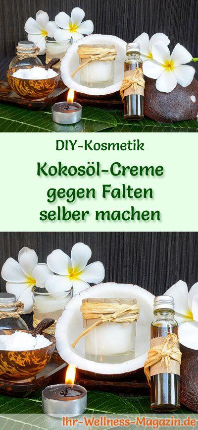 kokos l creme gegen falten selber machen rezept anleitung kokos l kosmetik selber machen. Black Bedroom Furniture Sets. Home Design Ideas