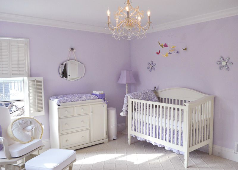 Lavender Baby Nursery Purple