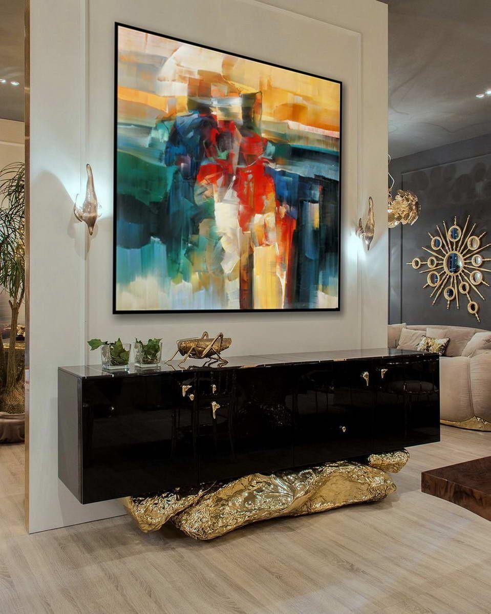 Abstract oilpaint par Jackson Pollock réimpression sur Encadré Canvas Wallart decor