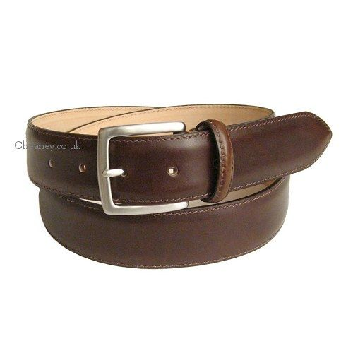 dcacbb3f077b2 Cheaney Burnished Espresso Belt with Silver Buckle £65 | Saad ...