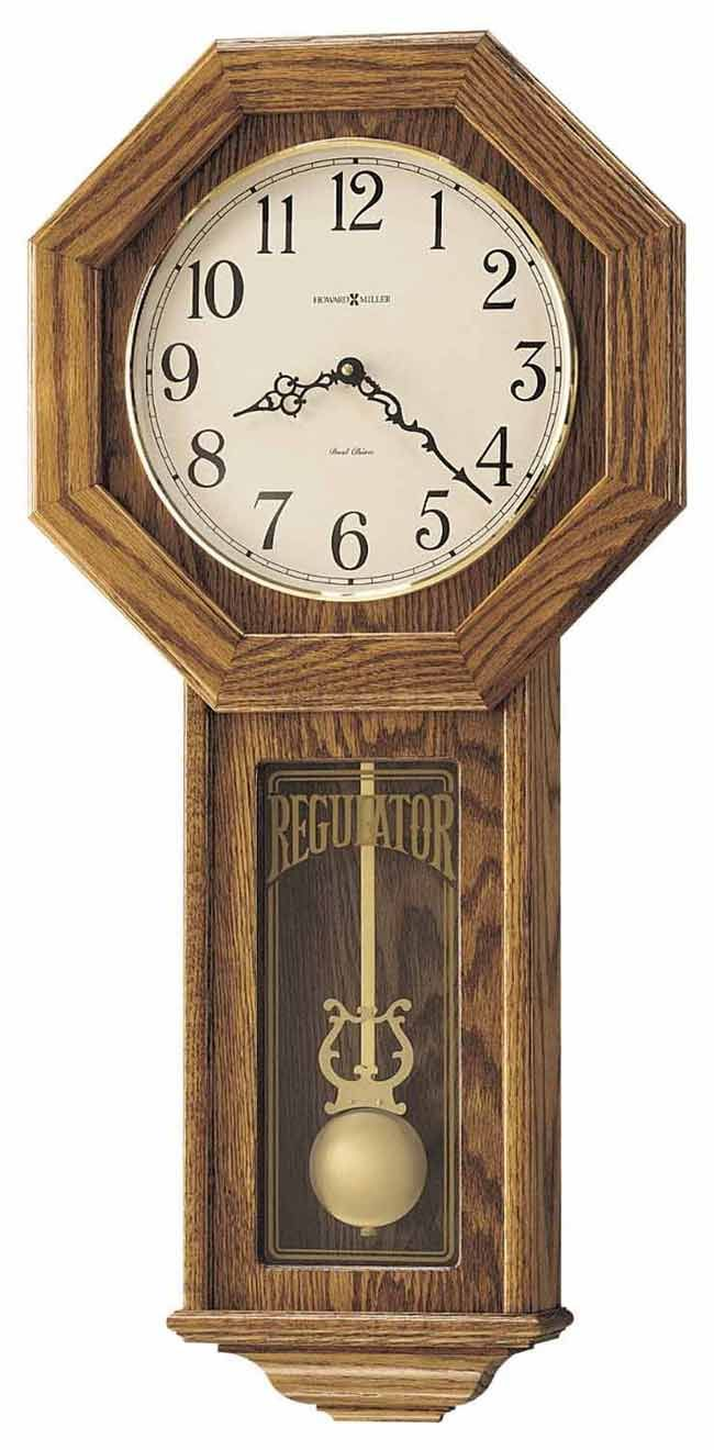 Howard Miller Ansley 620 160 Schoolhouse Wall Clock With Chimes Howard Miller Wall Clock Chiming Wall Clocks Wall Clock