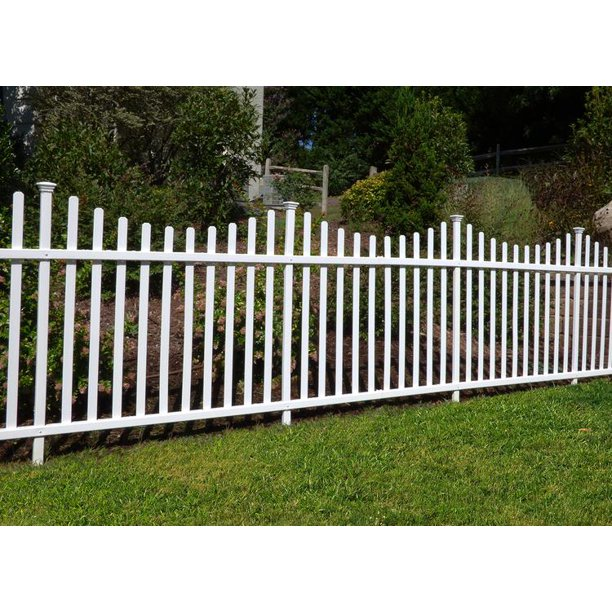 Manchester No Dig Vinyl Fence Kit 42in X 92in 2 Pack Walmart Com Vinyl Fence Panels Garden Fence Panels Vinyl Picket Fence