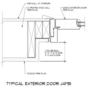 exterior door jamb extension exterior door jamb detail doors in 2018 pinterest