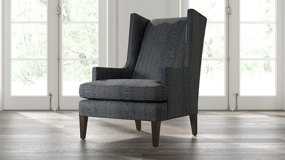 Luxe High Wing Back Chair + Reviews Crate and Barrel