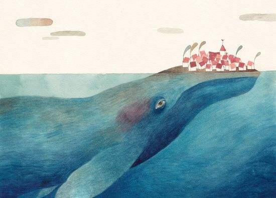 Illustrazione bambini ~ Gemma capdevila whale ii a sea of love. pinterest