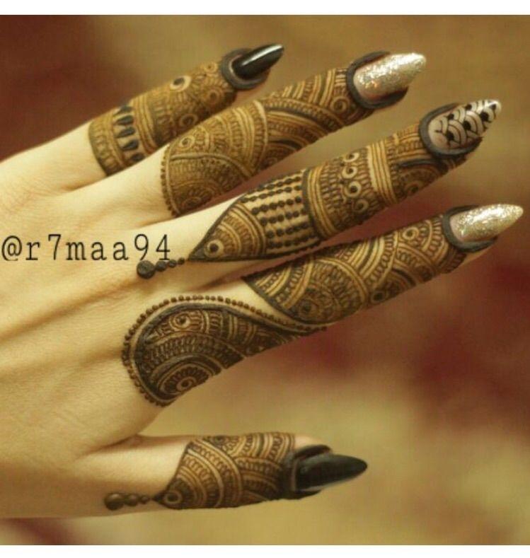 bridal finger mehndi design