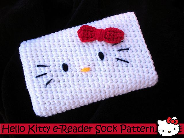 Hello Kitty inspired eReader Sock pattern by Aunt Janet\'s Designs ...