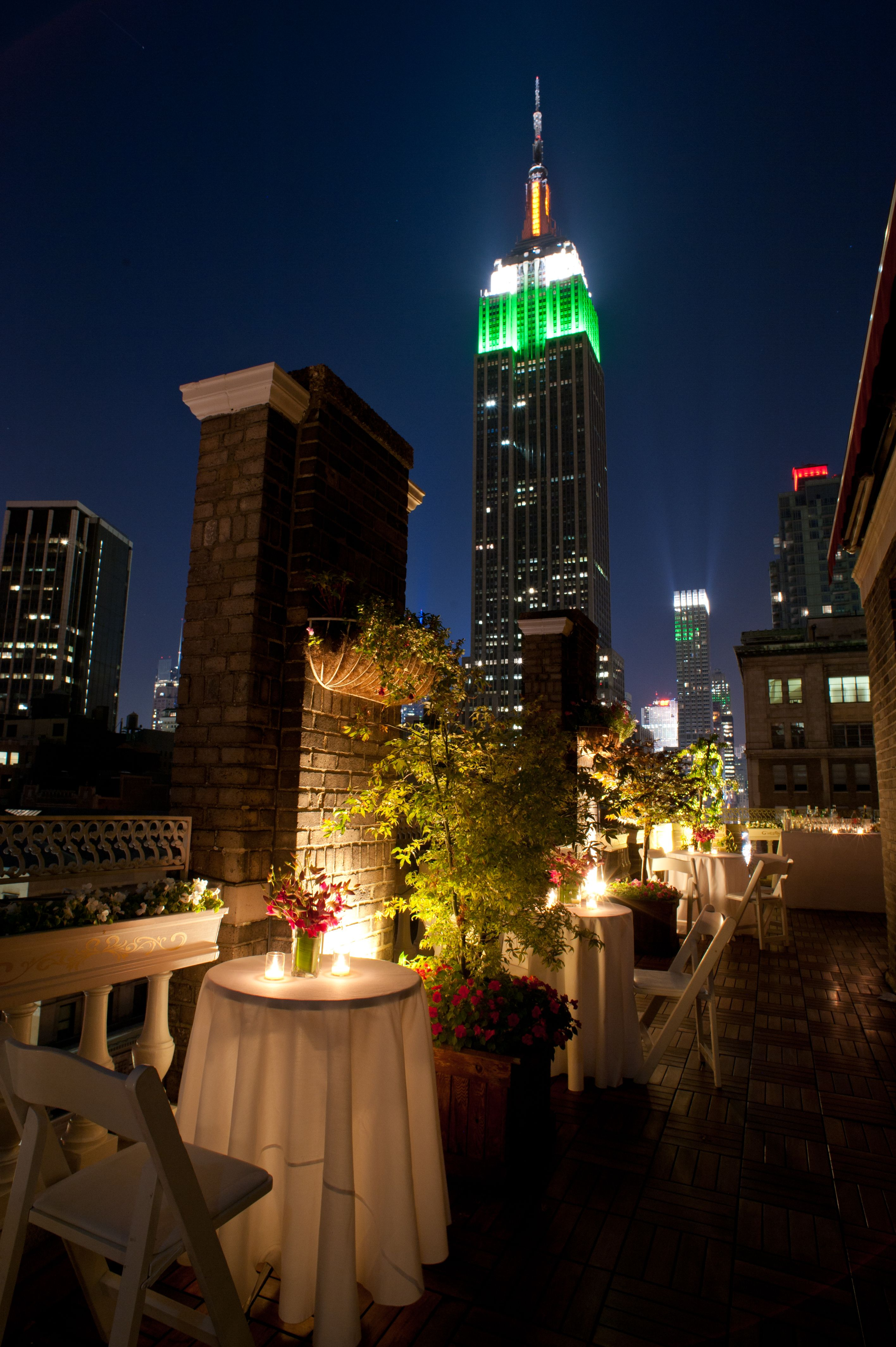 view of the empire state building from the midtown loft u0026 terrace