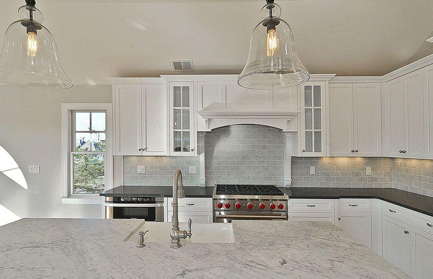 49 Brick Kitchen Design Ideas Tile Backsplash Accent Walls White Subway Tile Kitchen Tile Accent Wall Kitchen Kitchen Design Modern White