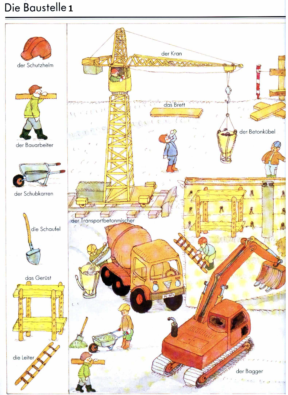 German For Beginners Construction Site