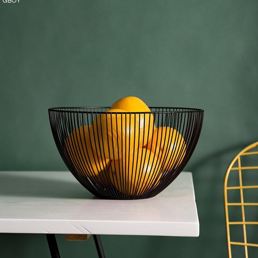 12 59 Aud Countertop Fruit Vegetable Bowl Metal Wire Basket
