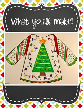 Ugly Christmas Sweater Writing Craft Inference Activity