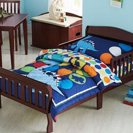 Dinosaur Fun 4 Piece Toddler Bedding Set Sears Toddler Bed Set Toddler Bed Boys Room Decor