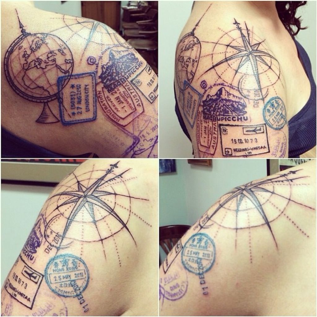 16 pictures of the best travel themed tattoos tattoo