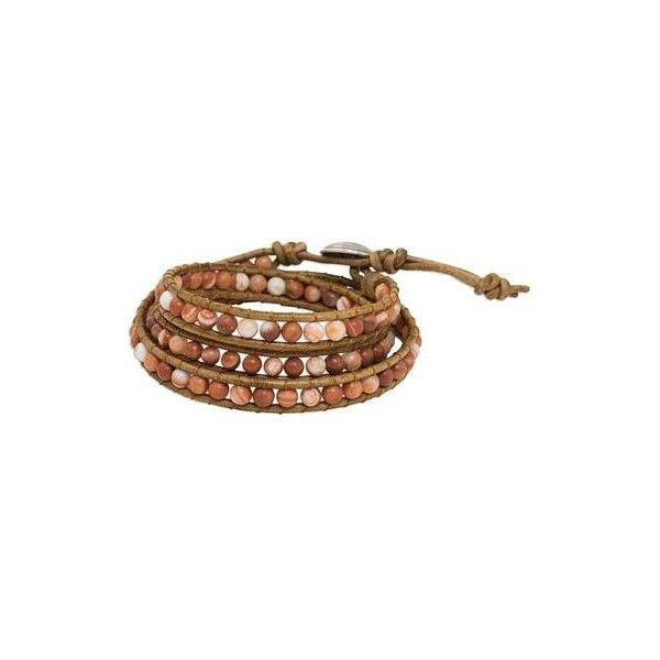 NOVICA Thai Jasper and Leather Cord Bracelet with Silver Clasp (195 ILS) ❤ liked on Polyvore featuring jewelry, bracelets, braceletes, beaded, brown, clothing & accessories, leather bangles, beaded jewelry, wrap bracelet and beaded wrap bracelet