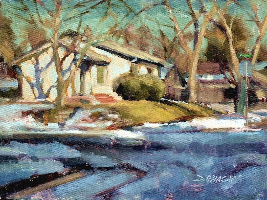 Oil painting bold and direct streaming video direct