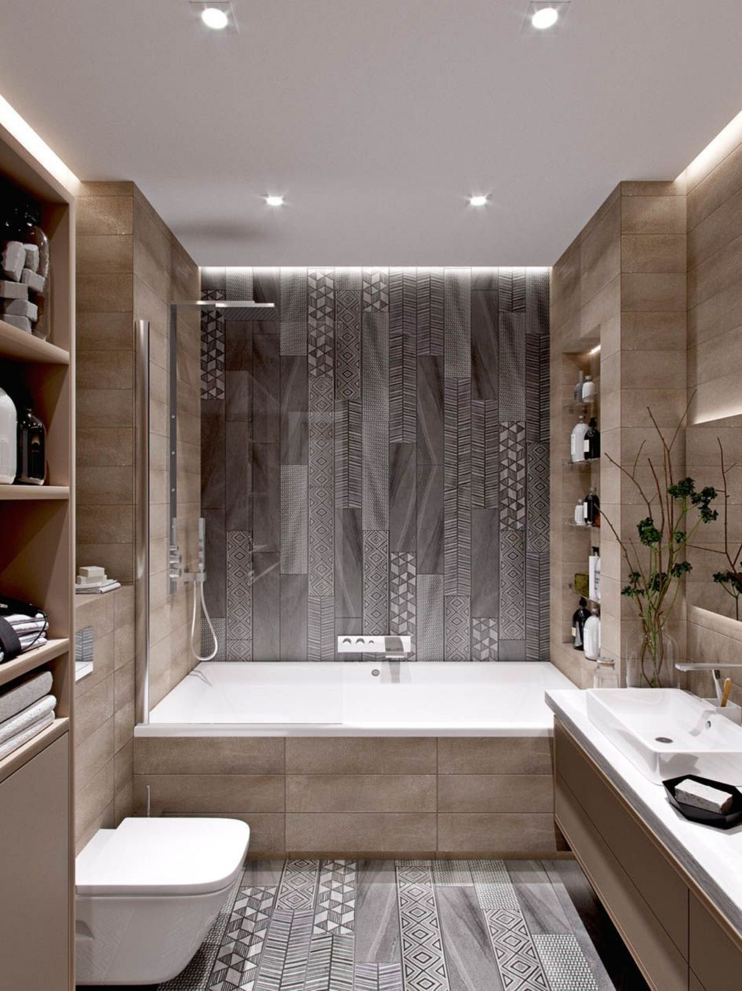10 Magnificent Modern Small Bathroom Design Ideas For Your Calm