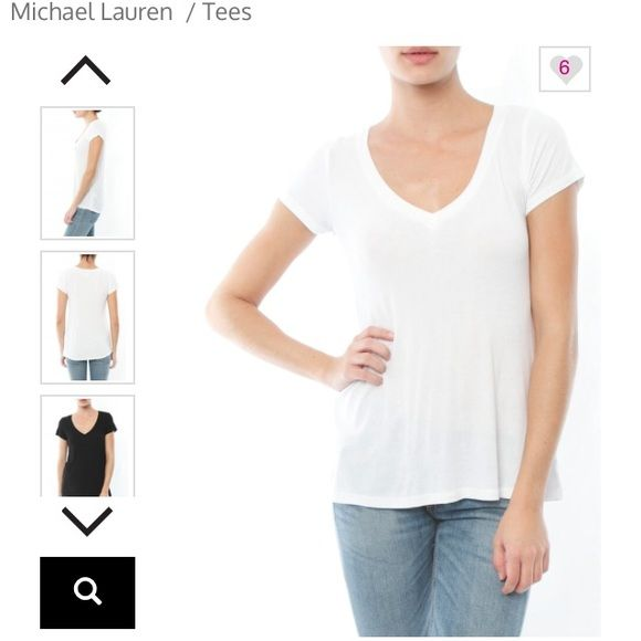 "Michael Lauren Tee Michael Lauren ""Newman"" tee. Ribbed v-neck. Relaxed fit. Color white. Size small. Great basic!  Super comfy. Worn once. Perfect condition. Michael Lauren Tops Tees - Short Sleeve"