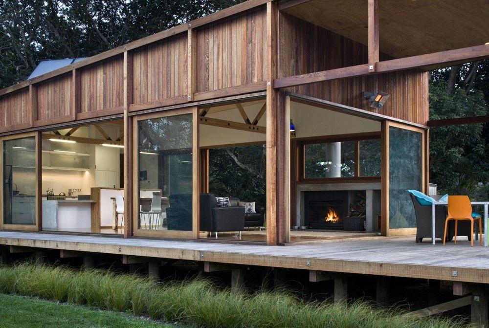 Great Barrier House / Crosson Clarke Carnachan Architects Maison - Maison En Bois Sur Pilotis