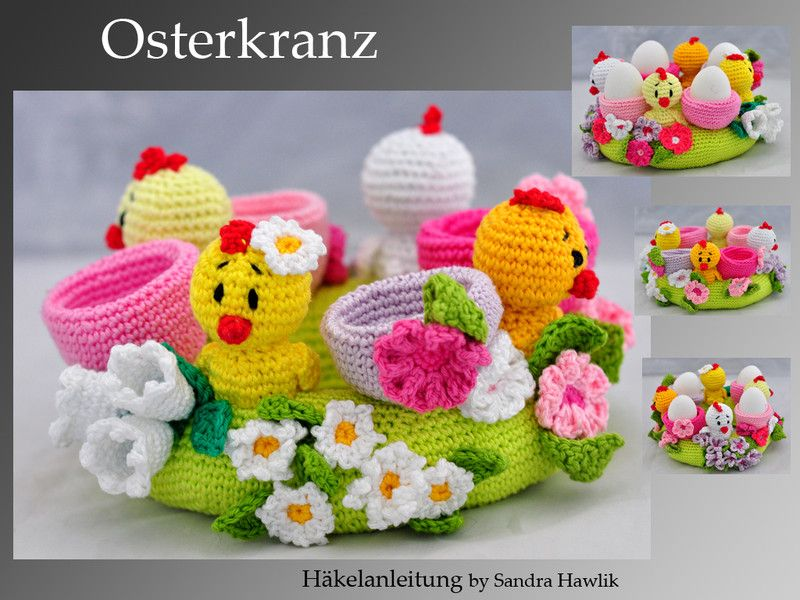 Photo of Crochet pattern – Easter wreath, crocheted, crochet pattern, pdf – a designer …