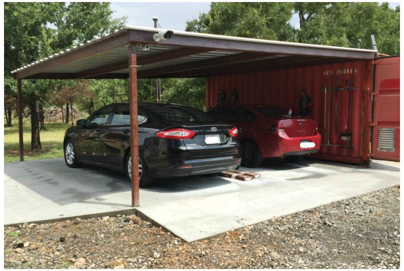 Nice Shipping Container Storage Ideas Part - 4: Shipping Container Carport And Storage Idea