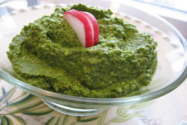 Radish Leaf / Radish Top Pesto. Photo by averybird