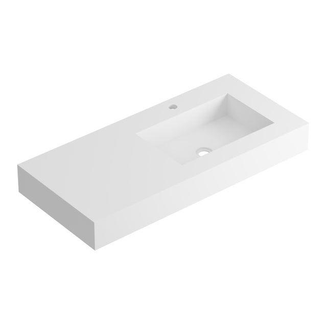 Plan Vasque Simple Serie Microplus Pierre Blanc L 121 Leroy Merlin In 2020 Sink Simple Bathtub