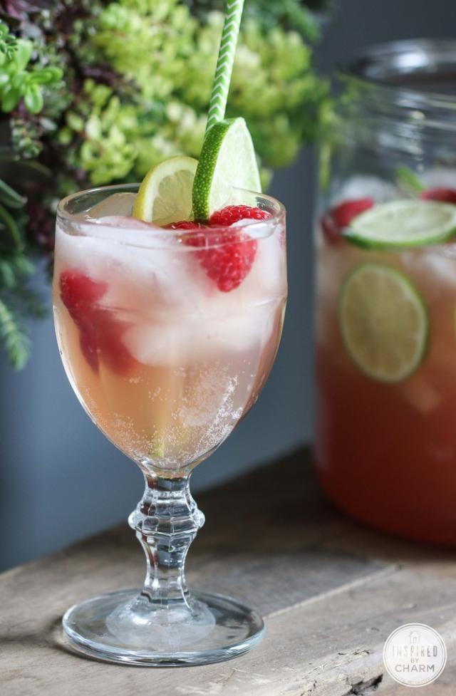 Raspberry Beer Cocktail - lovely for spring!