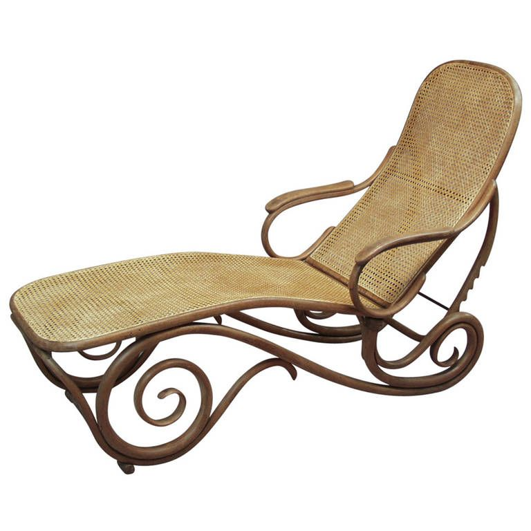 1900s Thonet Bentwood Chaise Longue Chaise Longue Chaise Furniture