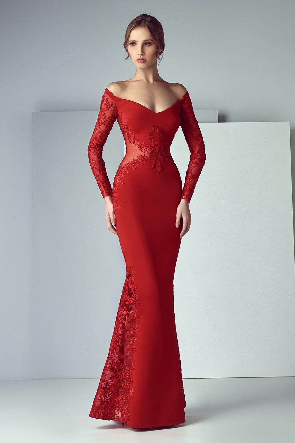 Fine Red Long Party Dress Festooning - All Wedding Dresses ...