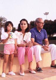 El matrimonio, con su hija Ana. GTRES