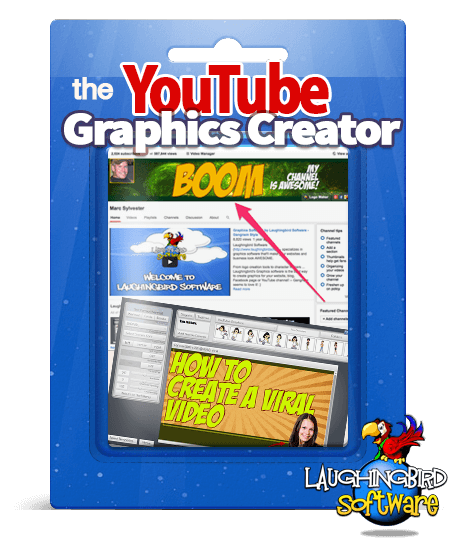 "Youtube Channel Art Maker creates YouTube banners, video thumbnails, intro graphics and ""end bumper"" screens 