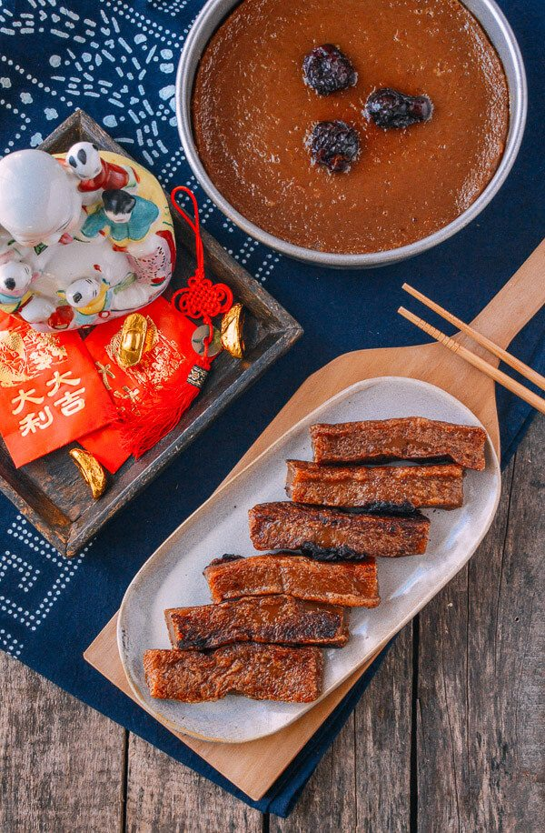 Chinese New Year Sweet Rice Cake Nian Gao Recipe Nian Gao Food Rice Cakes