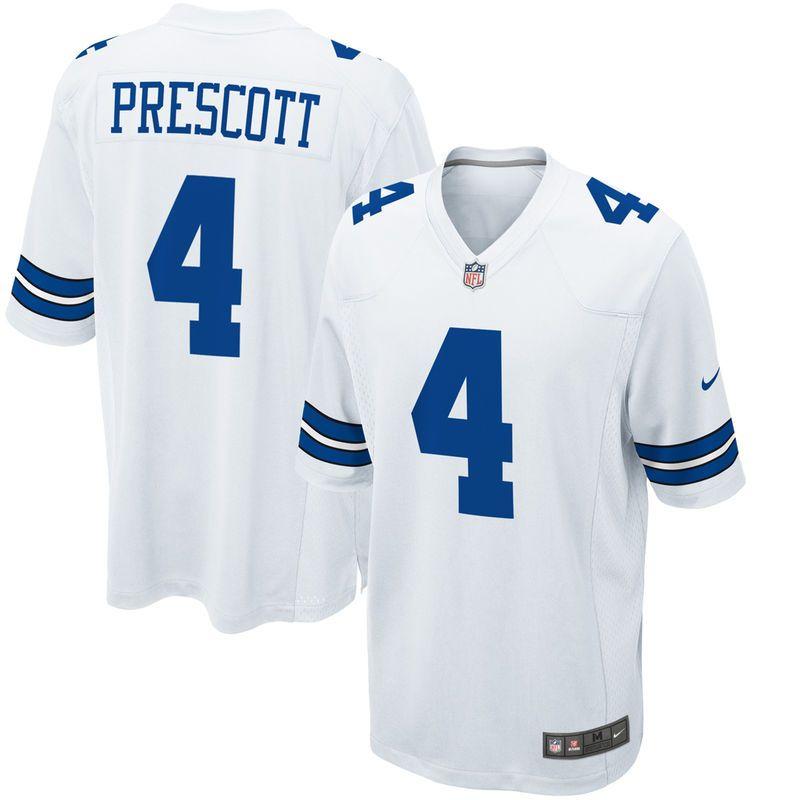 factory price b381a 54f36 Dak Prescott Dallas Cowboys Nike Game Jersey - White ...