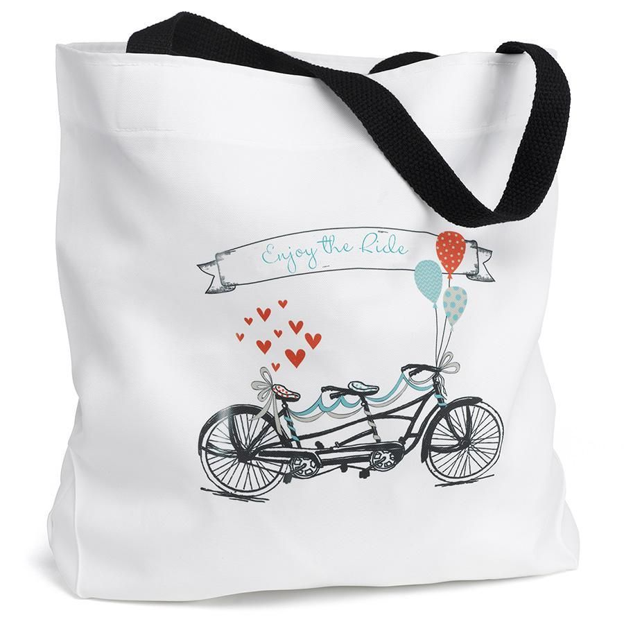 Tandem Bike Tote Bag - Goodie Bag Welcome Bag Favors