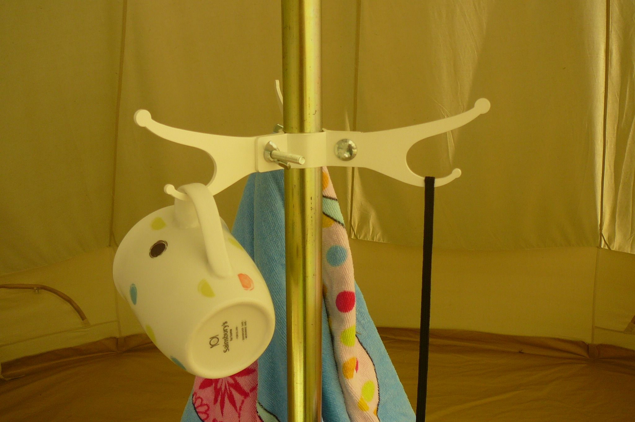 The Gl& Cl& - attach to Bell tent centre pole to hang useful items. & Unique Hooks for Bell Tents or any pole. | Hooks Hangers ...