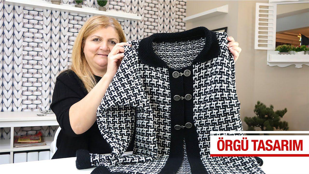 Bu Yilin Favorisi Iki Renkli Bayan Hirka Modeli Youtube Hirkalar Tig Isi Ceket Baby Knitting Patterns