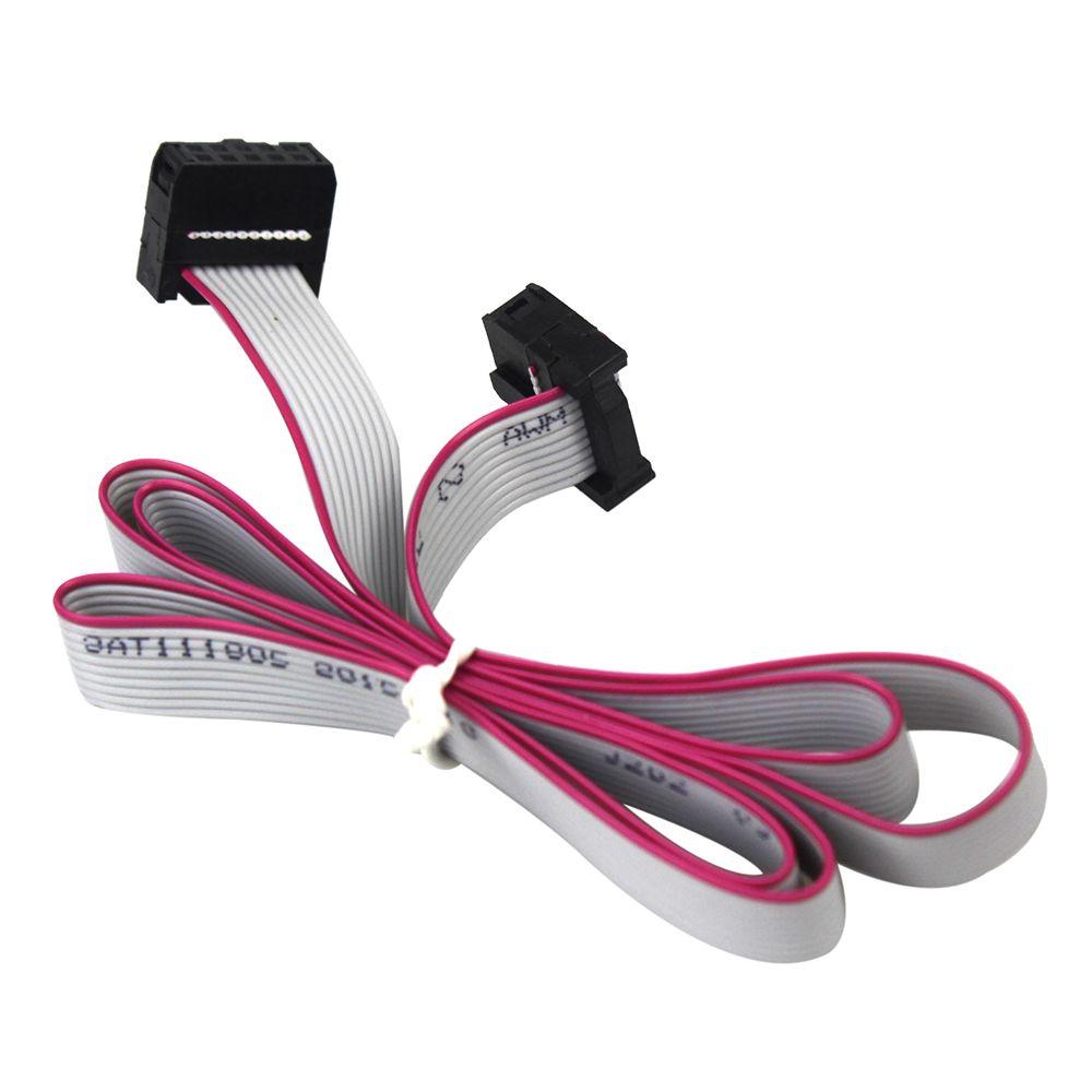 70CM 10 Pin USBISP USBASP JTAG AVR 2.54mm Download Wire Ribbon Cable